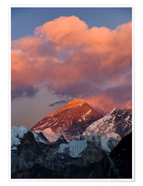 Premiumposter  Mount Everest & Mount Lhotse