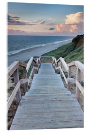 Akrylglastavla  Stairs down to the beach, Sylt - Markus Lange