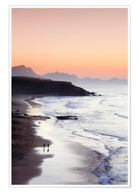 Premiumposter  View from Playa del Viejo to the Peninsula of Jandia, La Pared - Markus Lange