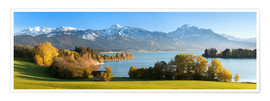 Premiumposter  Lake Forggensee and the Alps - Markus Lange