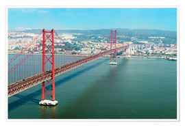 Premiumposter  Ponte 25 de Abril over the Tagus River - Gabrielle & Michel Therin-Weise