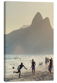 Canvastavla  Locals playing football on Ipanema - Alex Robinson