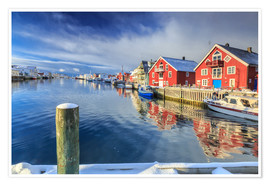 Premiumposter  colorful fisherman houses in Norway - Roberto Sysa Moiola