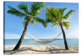 Canvastavla  Hammock at the beach in the south pacific - Jan Christopher Becke