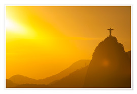 Premiumposter  View from the Sugarloaf of Christ the Redeemer statue on Corcovado, Rio de Janeiro, Brazil, South Am - Michael Runkel