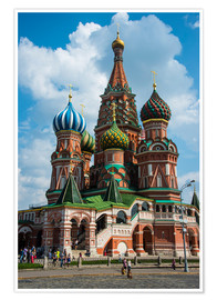 Premiumposter  St. Basil's Cathedral, Moscow - Michael Runkel