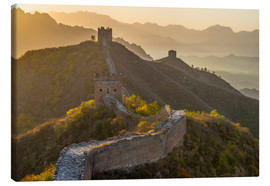 Canvastavla  Great Wall of China, UNESCO World Heritage Site, dating from the Ming Dynasty, section looking towar - Alan Copson