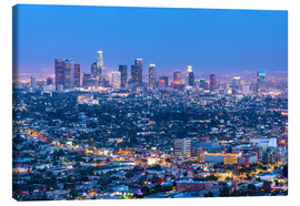 Canvastavla  Cityscape of the Los Angeles skyline at dusk, Los Angeles, California, United States of America, Nor - Chris Hepburn