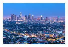 Premiumposter  Cityscape of the Los Angeles skyline at dusk, Los Angeles, California, United States of America, Nor - Chris Hepburn