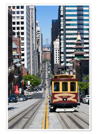 Premiumposter  Cable car crossing California Street - Gavin Hellier