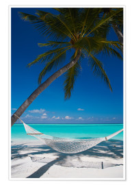 Premiumposter  Hammock on a tropical beach - Sakis Papadopoulos