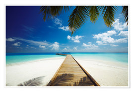 Premiumposter  Wooden jetty out to tropical sea - Sakis Papadopoulos