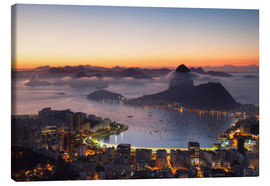 Canvastavla  Sugarloaf Mountain and Botafogo Bay - Ian Trower