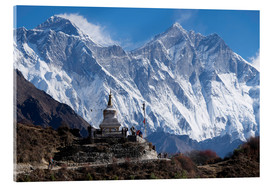 Akrylglastavla  Tenzing Norgye Stupa & Mount Everest - John Woodworth