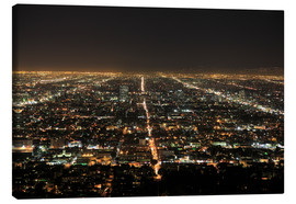 Canvastavla  Los Angeles at night - Wendy Connett