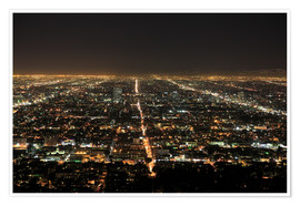 Premiumposter  Los Angeles at night - Wendy Connett