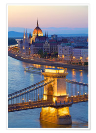 Premiumposter  Budapest with River Danube - Neil Farrin