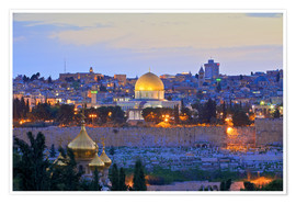 Premiumposter  Jerusalem with Dome of the Rock - Neil Farrin