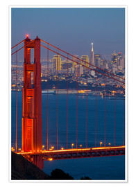 Premiumposter  Golden Gate Bridge - Miles Ertman