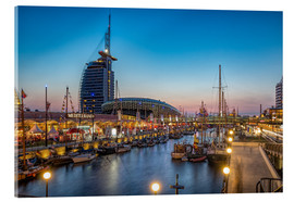 Akrylglastavla  Sail 2015 Klimahaus - Havenwelten Bremerhaven at night - Rainer Ganske