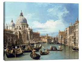Canvastavla  The Entrance to the Grand Canal, Venice - Bernardo Bellotto (Canaletto)