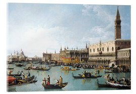Akrylglastavla  Venice: The Basin of San Marco on Ascension Day - Bernardo Bellotto (Canaletto)