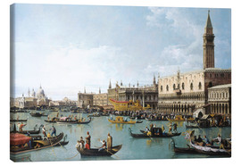 Canvastavla  Venice: The Basin of San Marco on Ascension Day - Bernardo Bellotto (Canaletto)