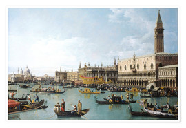 Premiumposter Venice: The Basin of San Marco on Ascension Day