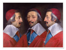 Premiumposter Triple Portrait of Cardinal de Richelieu