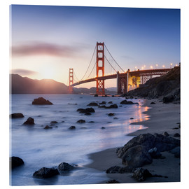 Akrylglastavla  San Francisco Golden Gate Bridge - Jan Christopher Becke