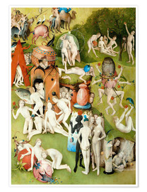 Premiumposter  Garden of Earthly Delights, mankind before the Flood (detail) - Hieronymus Bosch