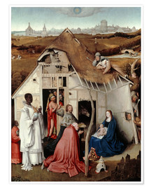 Premiumposter  Adoration of the Magi - Hieronymus Bosch