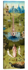 Canvastavla  Garden of Earthly Delights, the paradise - Hieronymus Bosch