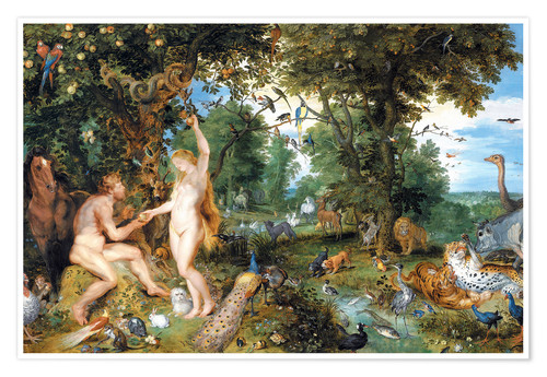 Premiumposter Garden of Eden with the Fall of Man