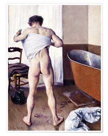 Premiumposter  Man in the bathroom - Gustave Caillebotte