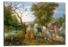 Aluminiumtavla  Noah leads the animals into the ark - Jan Brueghel d.Ä.