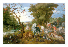 Premiumposter  Noah leads the animals into the ark - Jan Brueghel d.Ä.