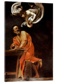 Akrylglastavla  The inspiration of St Matthew - Michelangelo Merisi (Caravaggio)