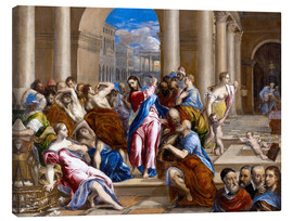 Canvastavla  Christ expels traders from the temple - Dominikos Theotokopoulos (El Greco)