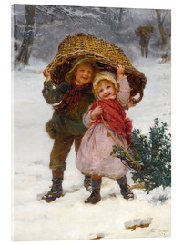 Akrylglastavla  Christmas time - Frederick Morgan