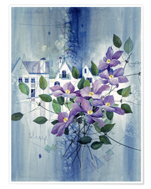 Premiumposter View with clematis