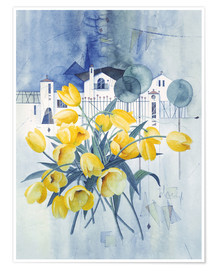 Premiumposter  View with tulips - Franz Heigl