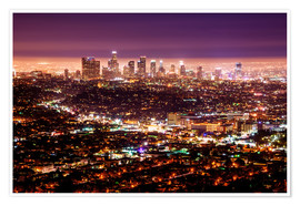 Premiumposter  Los Angeles at night - Daniel Heine