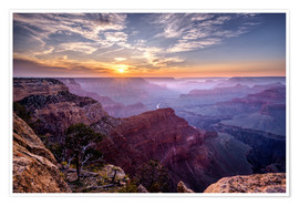 Premiumposter  Sunset at Grand Canyon - Daniel Heine