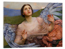 Akrylglastavla  The Sense of Sight - Annie Louisa Swynnerton