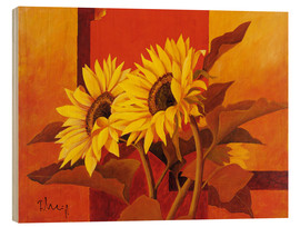 Trätavla  Two sunflowers III - Franz Heigl