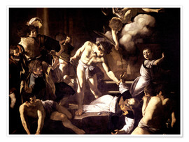 Premiumposter  The Martyrdom of Saint Matthew - Michelangelo Merisi (Caravaggio)