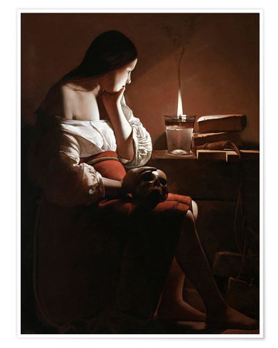Premiumposter The Magdalen with the Smoking Flame