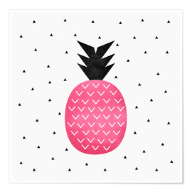 Poster  Pink Pineapple - Elisabeth Fredriksson