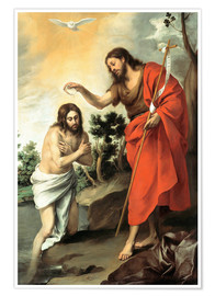 Premiumposter The baptism of christ
